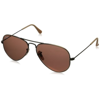 Ray-Ban RB3025 Aviator Large Metal Sunglasses - 58MM (Demiglos Bronze Frame/Red Lens)