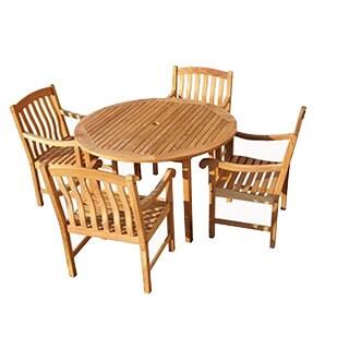 Savannah Collection 5-Piece Teak Dining Set