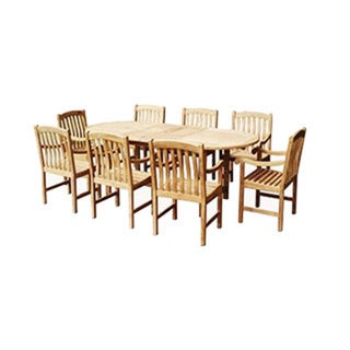 Savannah Collection 9-Piece Teak Dining Set