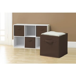 Collapsible Storage Cubes, Chocolate (Pack of 6)