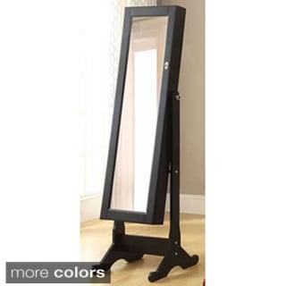 Hodedah Standing Storage Mirror