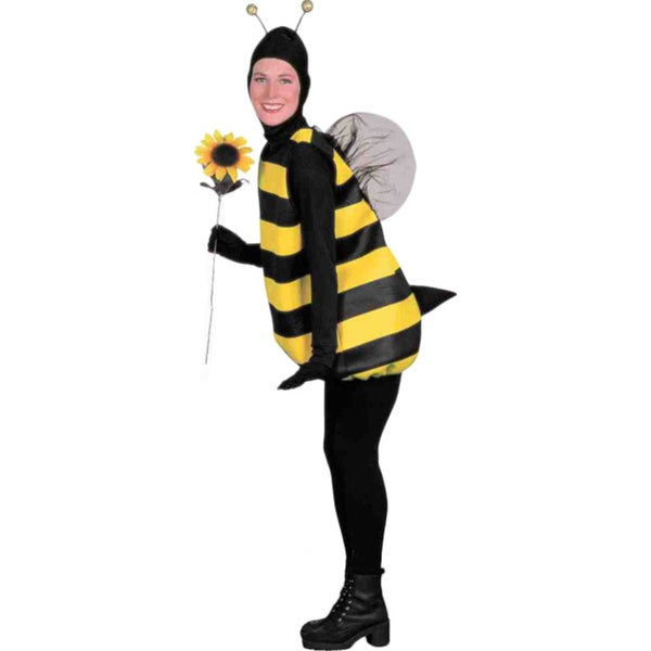 Bumble Bee Costume Black Yellow Stinger Wings Antennae Insect Bug Adult