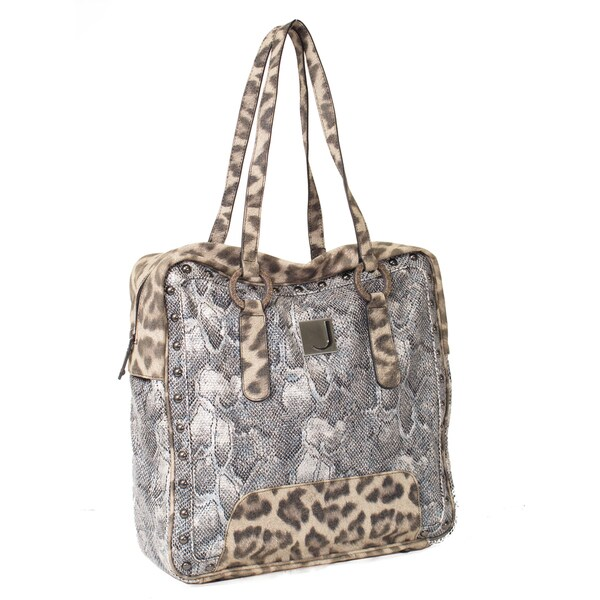Joanel Large Mixed Animal Print Tote