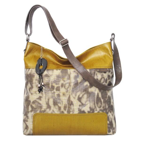 Joanel Large Animal Print Crossbody Bag