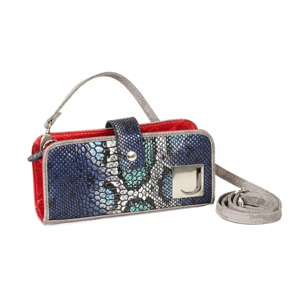 Joanel Small Mixed Snakeskin Print Crossbody Bag