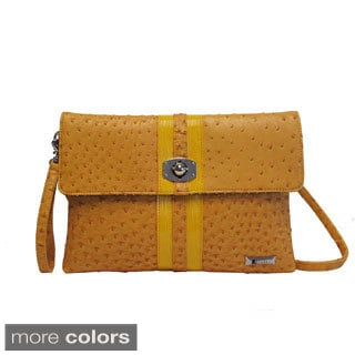 Joanel Ostrich Texture Clutch