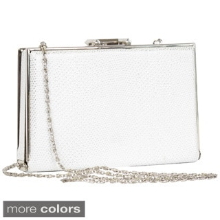 Joanel Snakeskin Print Evening Clutch