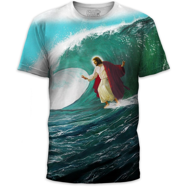 Men's Surf's Up Jesus Cotton T-shirt
