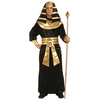 Pharaoh Costume Egyptian King Tut Egypt Biblical Black Gold Pharoh Adult