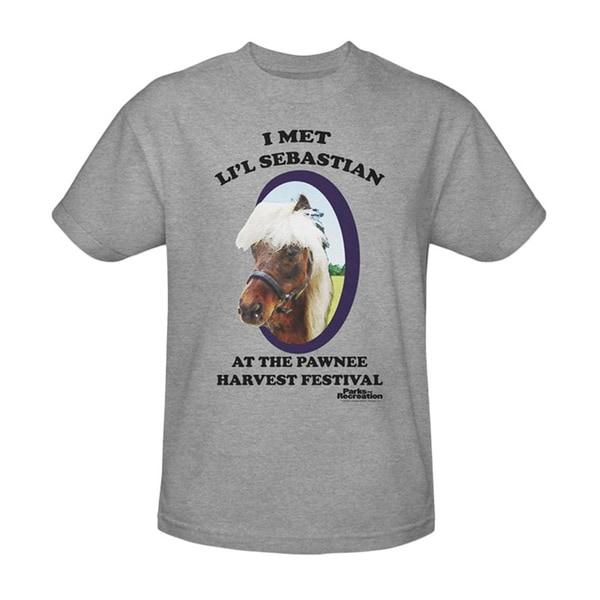 Lil' Sebastian Parks and Recreation T-Shirt NBC Rec Mini Horse Adult Mens