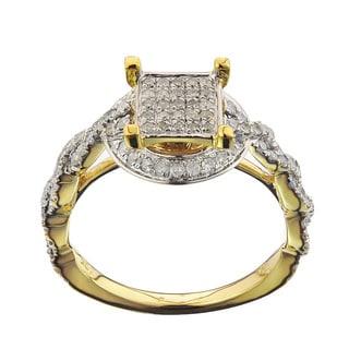 10k Yellow Gold 5/8ct TDW Diamond Ladies Ring (G-H , I2-I3)