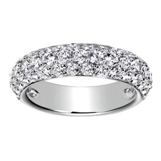 14k White Gold 2ct TDW Round Diamond Wedding Band (H-I, I1-I2)