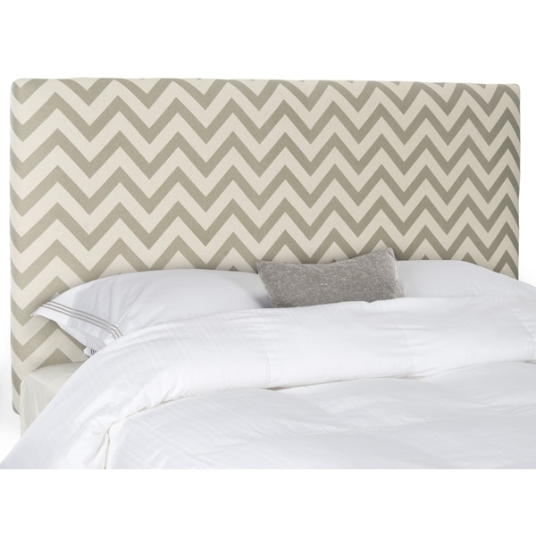 Safavieh Ziggy Grey & White Zig Zag Headboard (King)