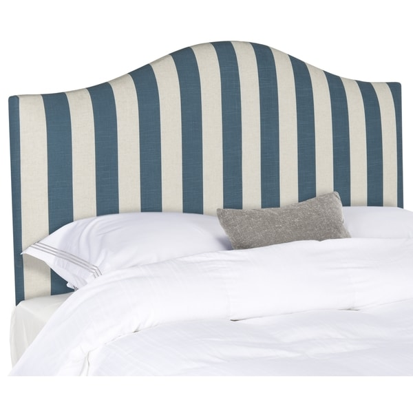 Safavieh Connie Navy & White Stripe Headboard (Full)
