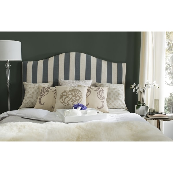 Safavieh Connie Grey/White Stripe Headboard (Queen)