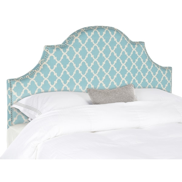 Safavieh Hallmar Blue & White Arched Headboard (Full)