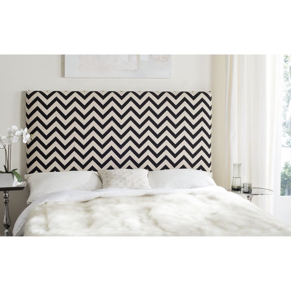 Safavieh Ziggy Black & White Zig Zag Headboard (King)