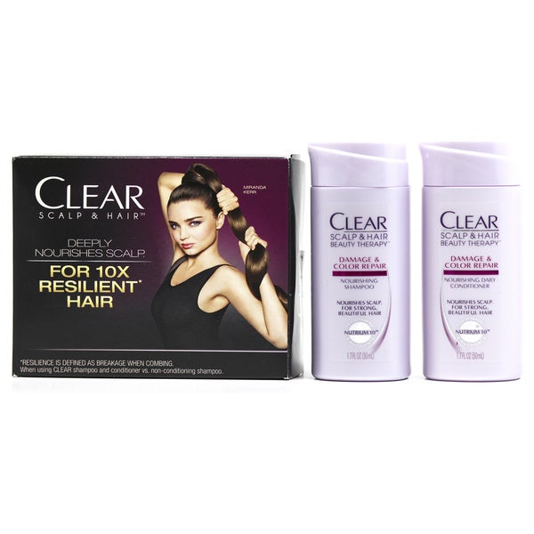 Clear Damage & Color Repair Travel 1.7-ounce Shampoo & Conditioner Set
