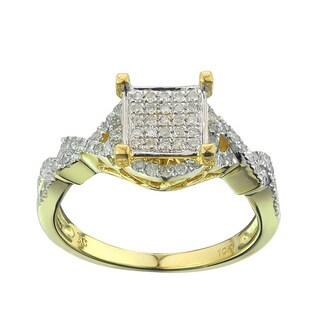 10k Yellow Gold 2/5ct TDW Diamond Engagement Ring (G-H, I2-I3)