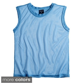 Sportoli Big Boys and Kids Athletic Lightweight Active Mesh Tank Top