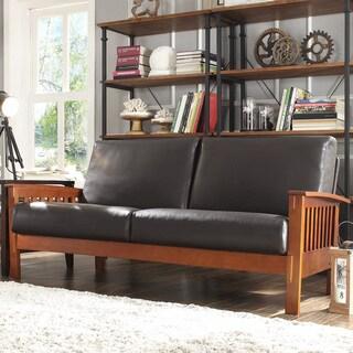 Hills Mission Bi-cast Faux Leather Sofa