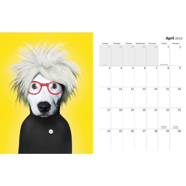 Pets Rock Aug 2015-Dec 2016 17 Month Spiral Engagement Planner