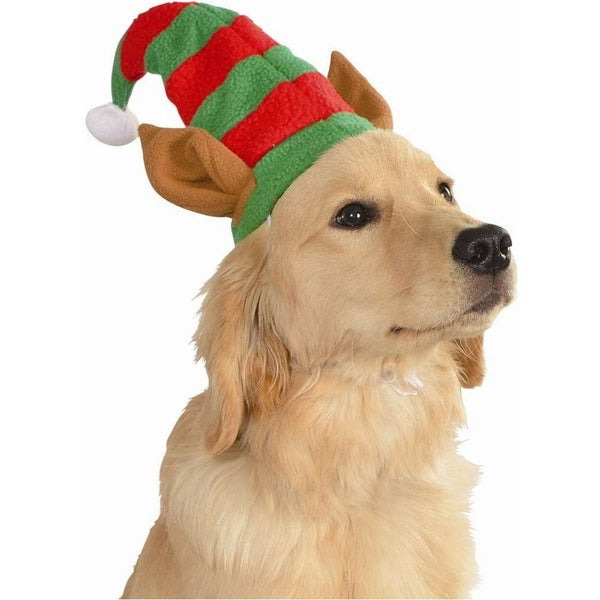 Christmas Elf Hat with Ears Pet Dog Costume