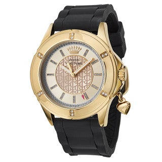Juicy Couture Women's 'Rich Girl' Stainless Steel Yellow Gold Ion Plated Quartz Watch