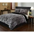 Matrix Velvet Plush Print 3-piece Comforter Set