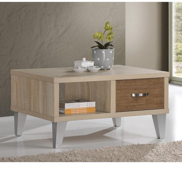 Ozzy White Oak/ Brown Coffee Table