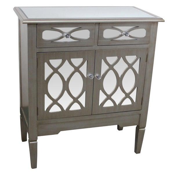 Ester Antique Silver Mirrored Cabinet