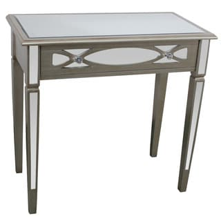 Safavieh manelin ash grey console - Mirrored console table overstock ...