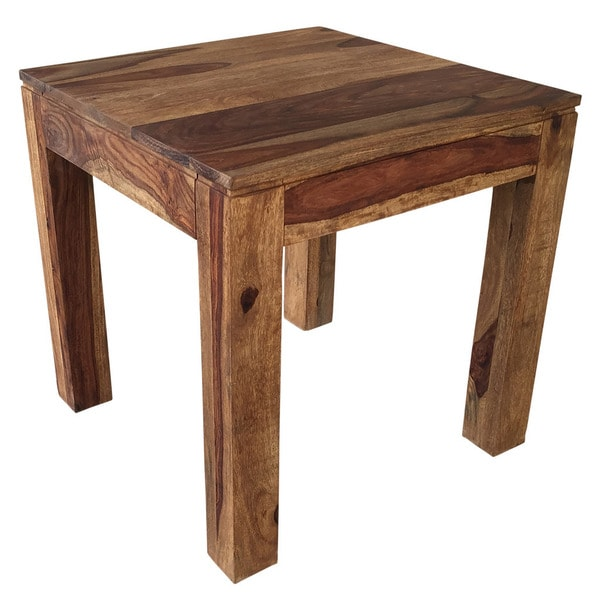 Idris Dark Sheesham Solid Wood Accent Table