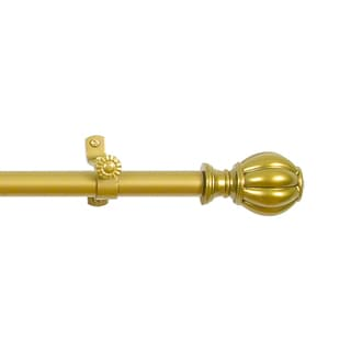 Elegant Decorative 'Catherine' Gold 28-inch to 40-inch Rod and Finial Set