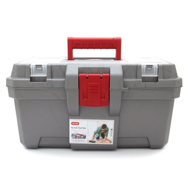 Keter 16-inch Toolbox Organizer, Silver Grey