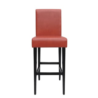 Oh Home Monte Carlo Stationary Bar Stool Dark Red Vinyl