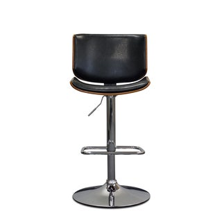 Somette Lismore Espresso Pneumatic Lift Adjustable-Height Swivel Barstool