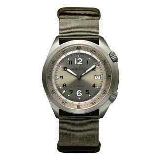 Hamilton Men's H80405865 Pilot Pioneer Aluminium Auto Green Watch 41mm
