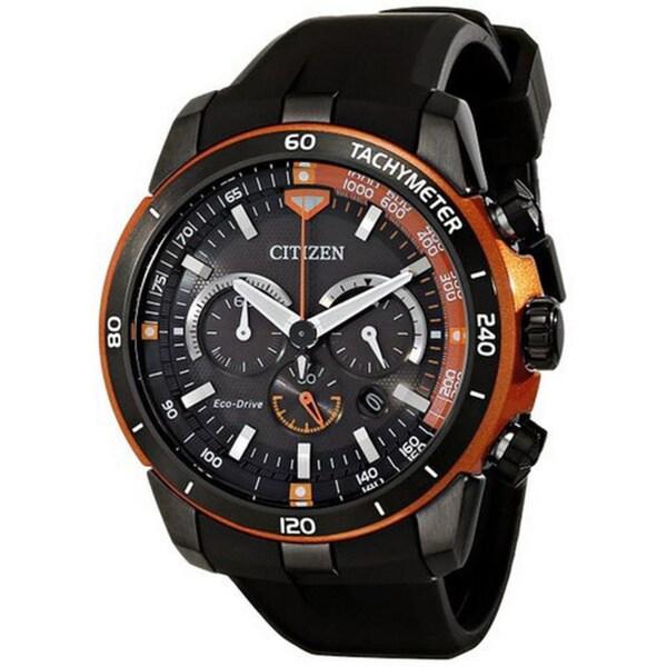 Citizen Men's CA4154-15E Eco-Drive Ecosphere Silicon Band Quartz Watch 48mm