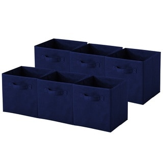 Navy Blue Collapsible Storage Cubes (Pack of 6)