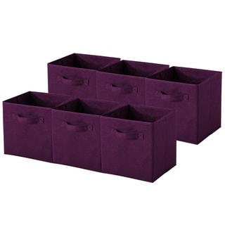 Purple Collapsible Storage Cubes (Pack of 6)