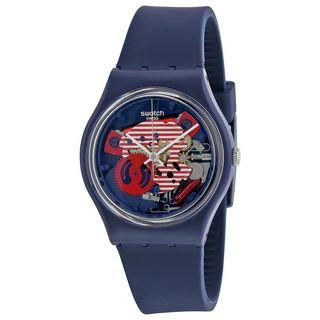 Swatch Women's GN239 'Original' Blue Silicone Watch