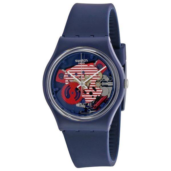 Swatch Women's GN239 'Original' Blue Silicone Watch