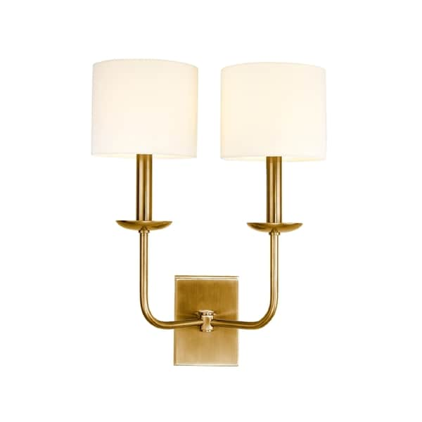 Hudson Valley Kings Point 2-light Wall Sconce, Aged Brass