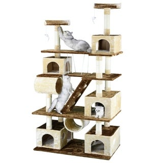 GoPetClub Huge Cat Tree Condo House Furniture