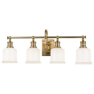 Hudson Valley Keswick 4-light Vanity, Aged Brass