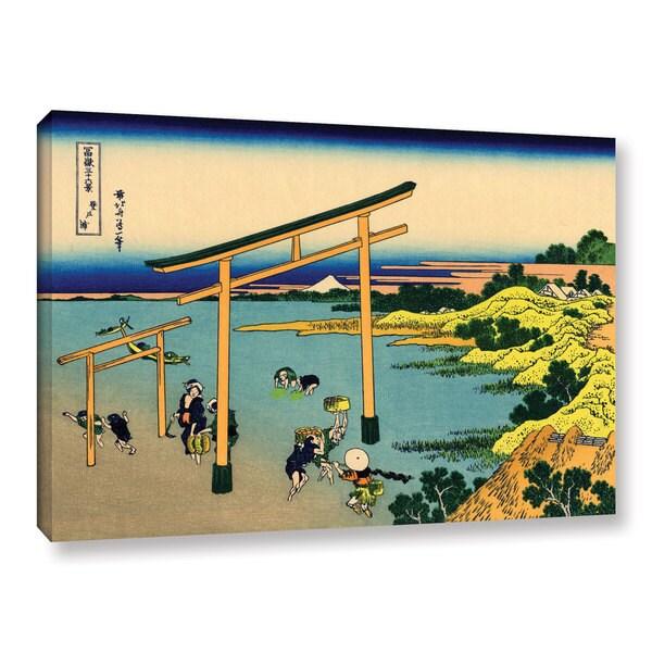 ArtWall Katsushika Hokusai 'The Waterfall Of Amida Behind The Kiso Road' Gallery-wrapped Canvas
