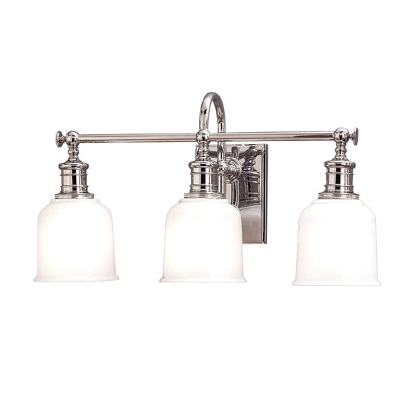Hudson Valley Keswick 3-light Vanity, Polished Chrome