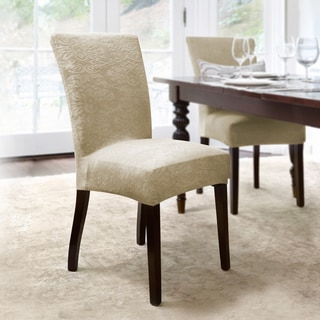 CoverWorks Dahlia Damask Stretch Dining Chair Slipcover (Set of 4)