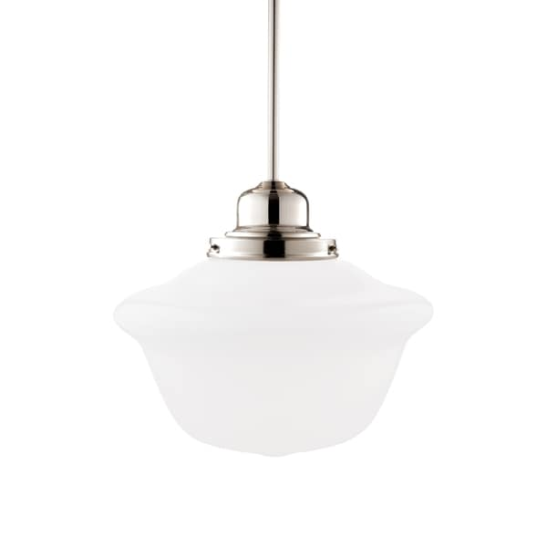 Hudson Valley Edison 1612 Pendant, Polished Nickel with Opal